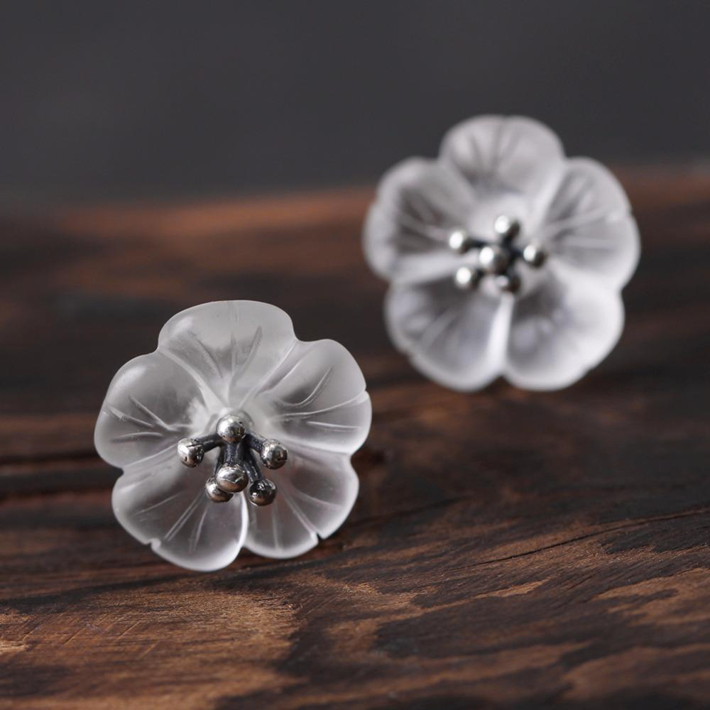 Flower in the Rain Stud Earrings