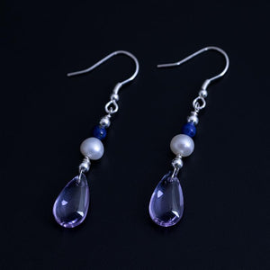 Vintage Natural Crystal Drop Earrings