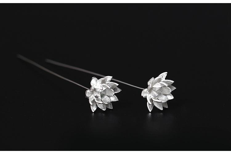 Silver Favorite Silver Flower Earrings
