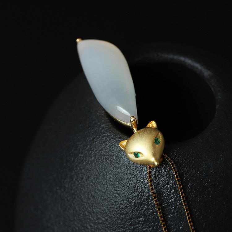 Smart Fox Jade Necklace