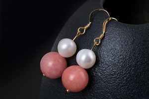 Natural Pearl Gold Earrings