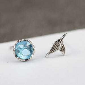 Love of Ocean Mermaid Stud Earrings