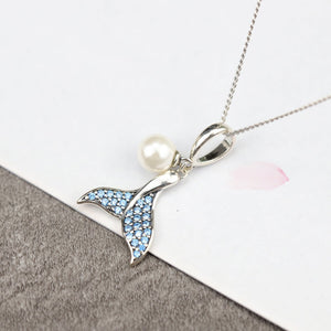 Mermaid Pearl Silver Necklace