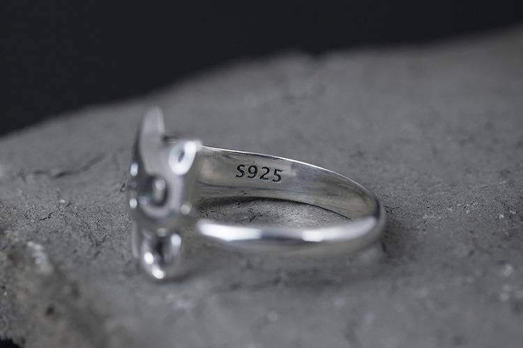 Cat Lover Open Ring