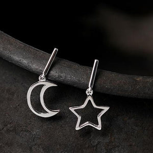 Shiny Star Moon Earrings