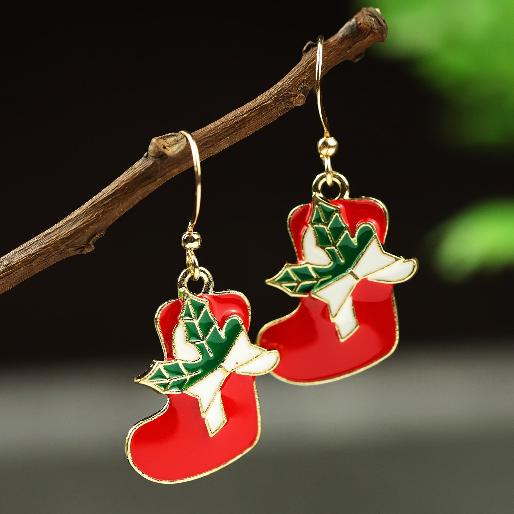 Merry Christmas Creative Drop Earrings Set