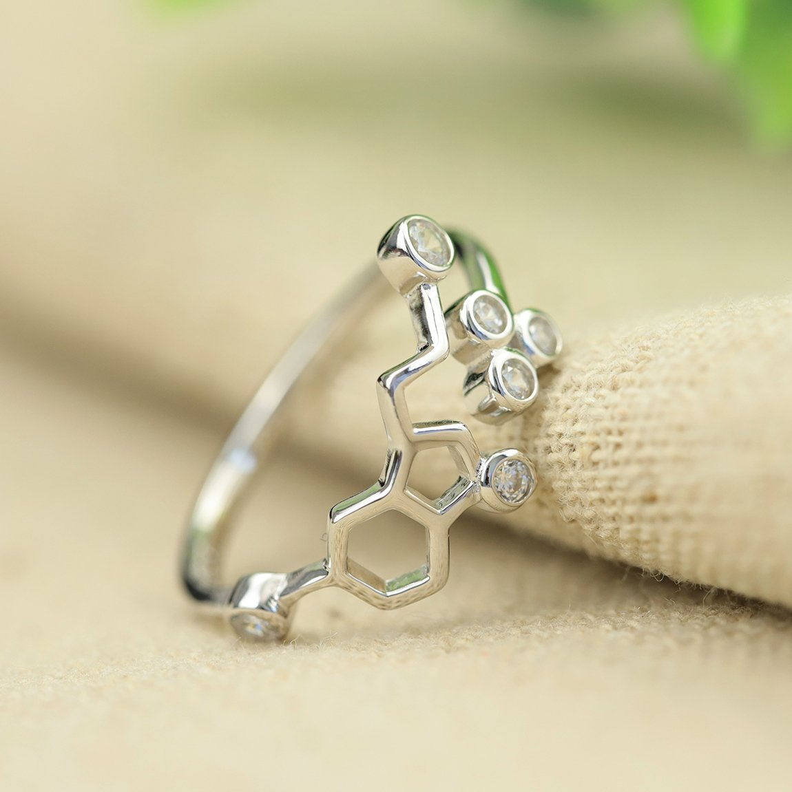 Chic Honeycomb Open Ring