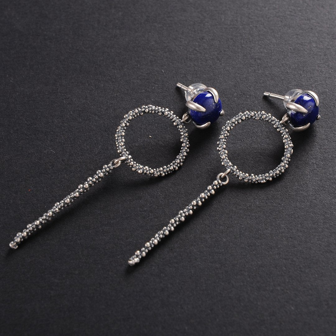 Exquisite Natural Stone Long Earrings