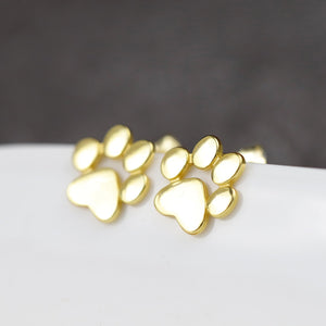 Lovely Paw Footprint Earrings
