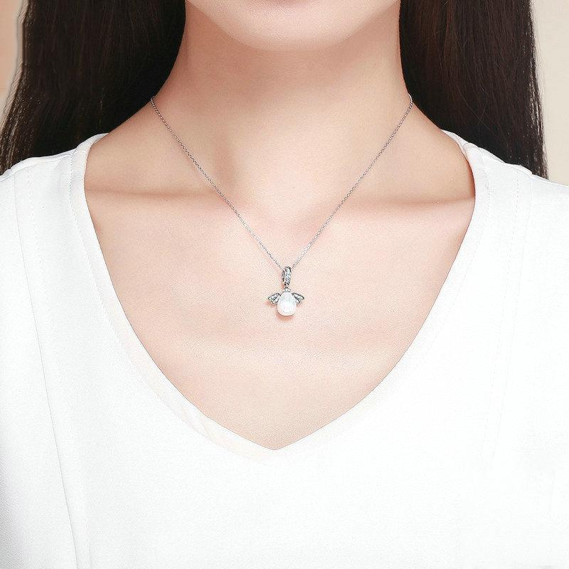 Chic Little Devil Silver Necklace