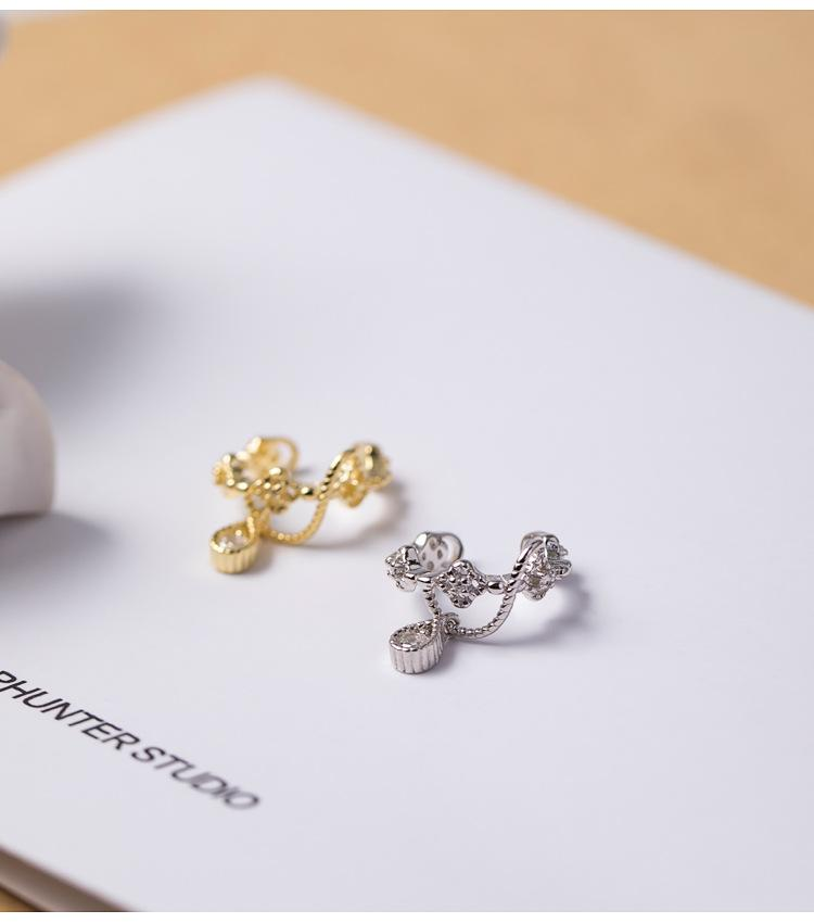 Lucky Clover Clip Earrings Without Piercing