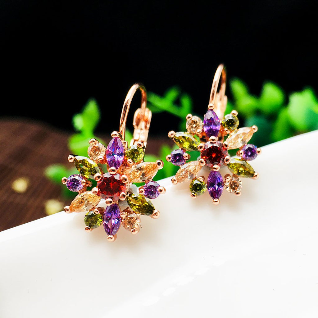 Stunning Flower Silver Earrings