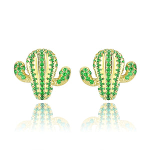 Stunning Cactus Stud Earrings