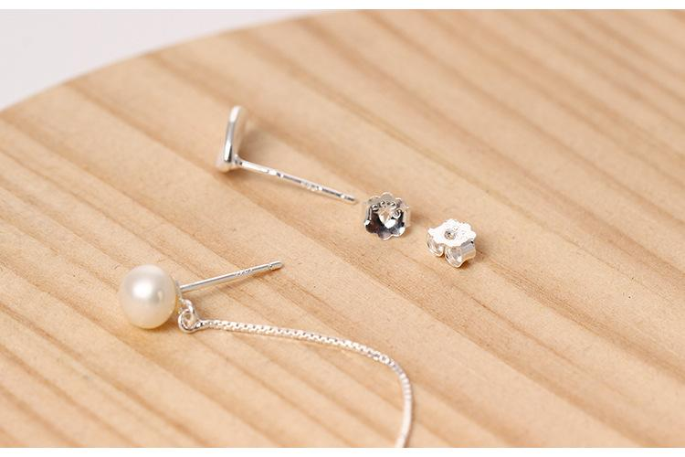 Irregular Freshwater Pearl Leaf Earrings