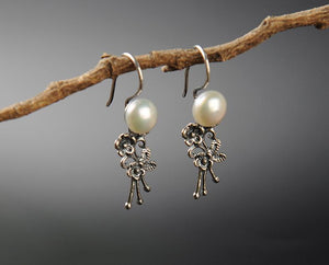 Vintage Natural Pearl Earrings
