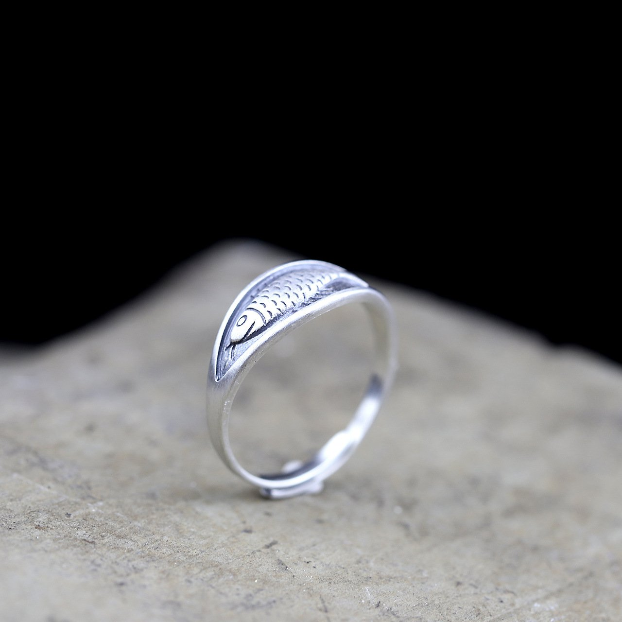 Handmade Little Fish Open Ring