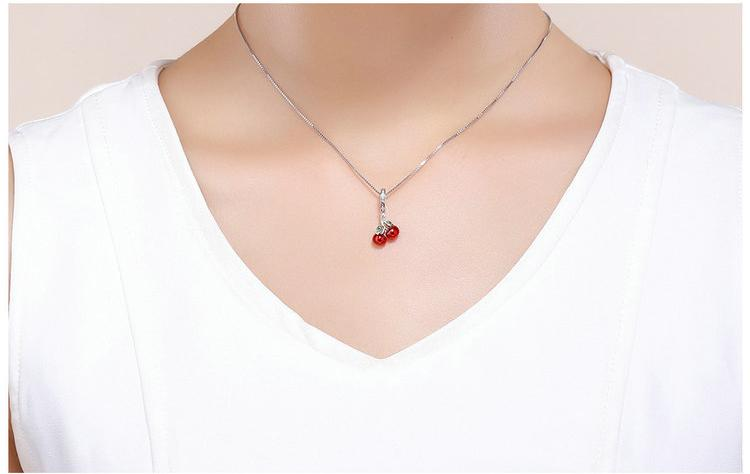 Sweet Cherry Pendant with Chain