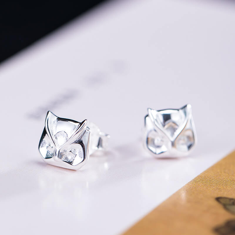 Original Owl Silver Stud Earrings