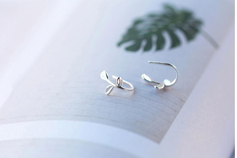 Silver Favorite Leaf Earrings