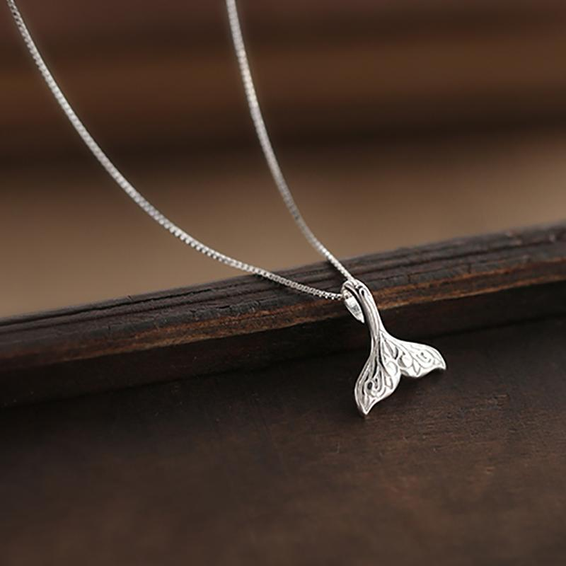 Sterling Silver Mermaid Tail Necklace