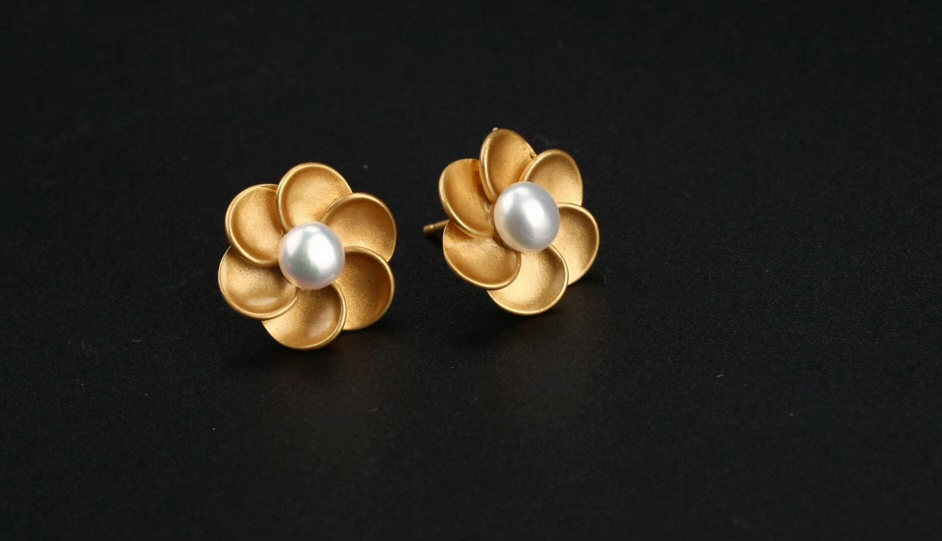 stud elena cremation ash earrings spirit flower with by products big pieces