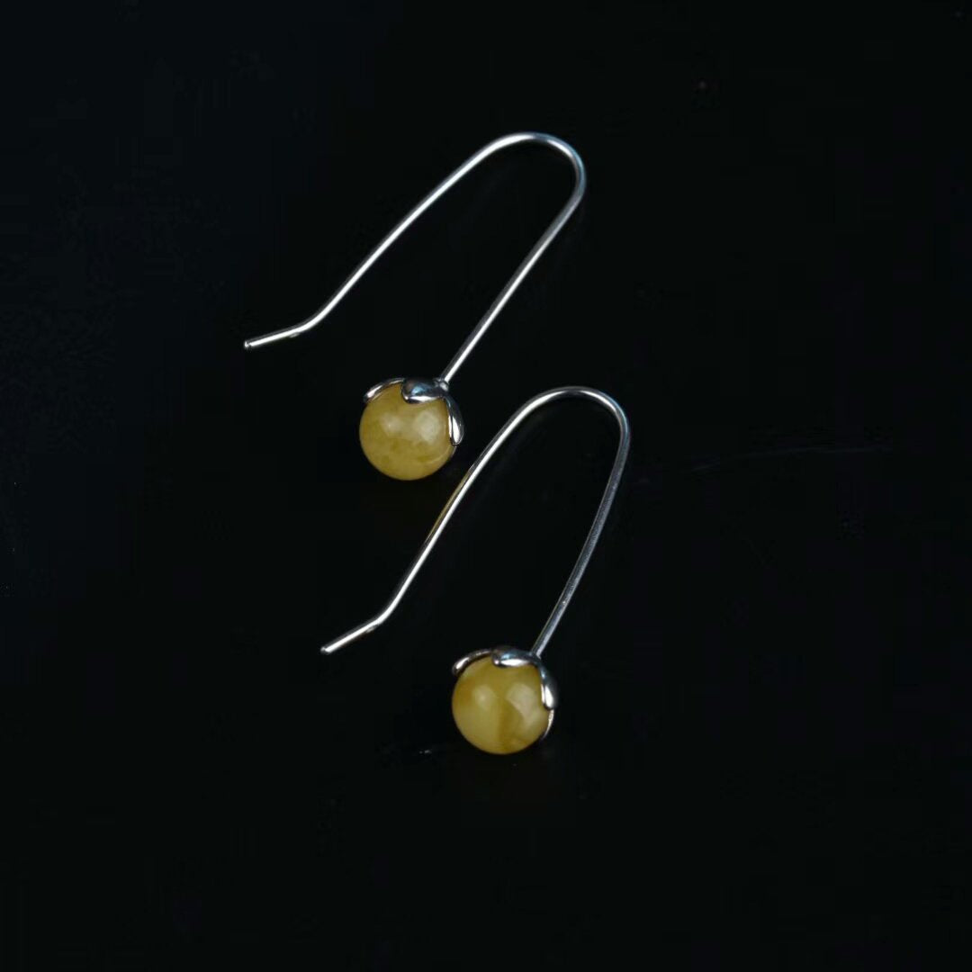 Prettier Natural Jade Earrings