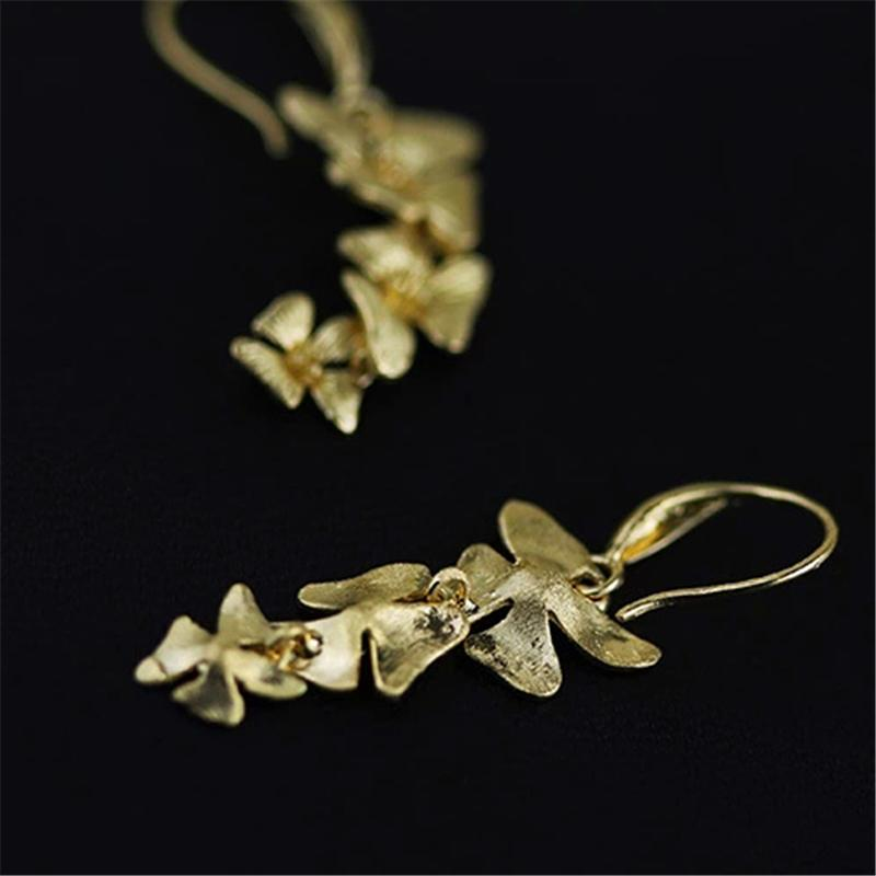 Triple Flowers Fashion Drop Earrings