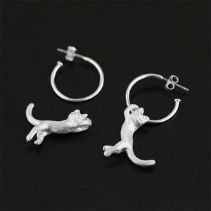 Cute Kung Fu Cat Drop Earrings