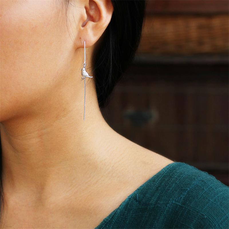 Interesting Bird Drop Earrings