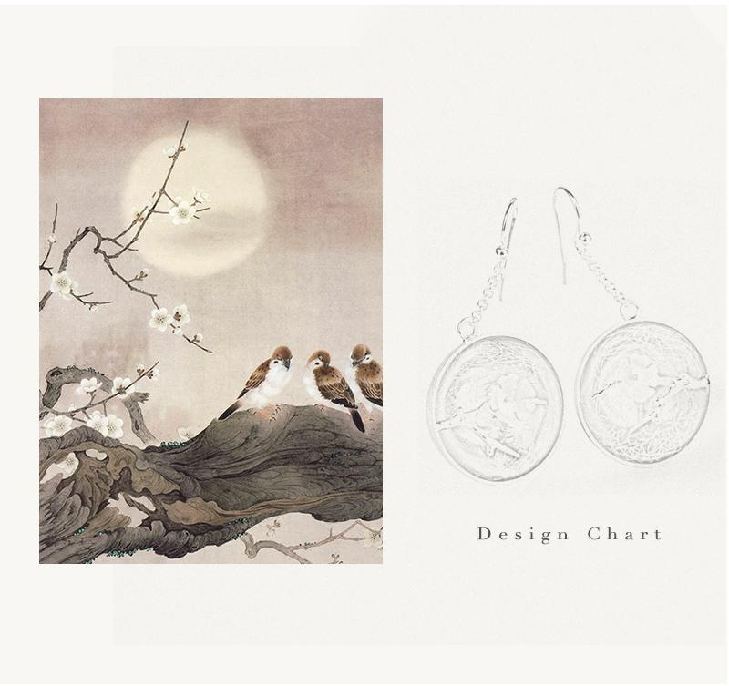 The Aroma of Wintersweet Dangle Earrings