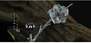 Fine Jewelry Flower in the Rain Design Brooches
