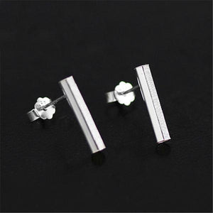 Simple Hexagonal Prism Stud Earrings
