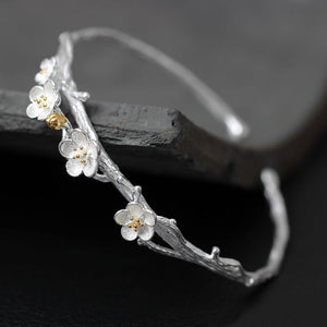 Plum Flower Open Bangles