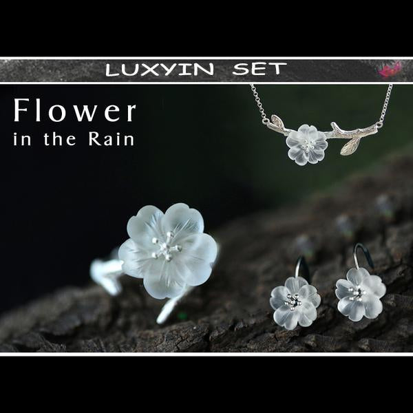 Flower in the Rain Jewelry Set