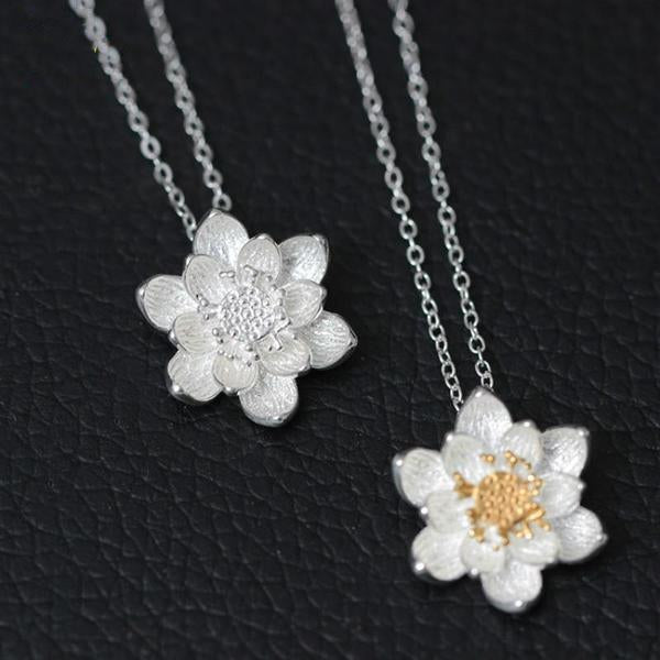 Lady Lotus Flower Necklace