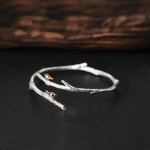 Bird on Branch Adjustable  Bangle
