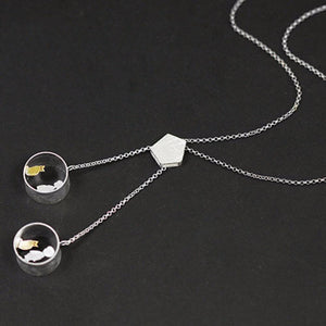 Cute Meeting Love With Cat Pendant