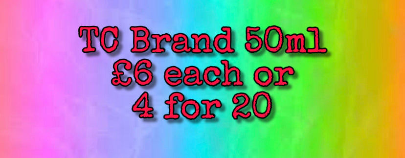 TC 50ml Bottles 4 for £20