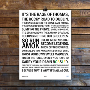 These Are The Words Poster 1x18 on Wooden Wall