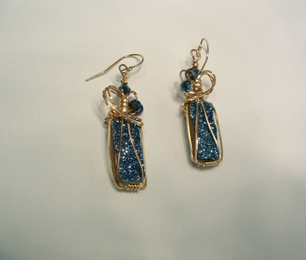 San Marino Druzy Drop Earrings