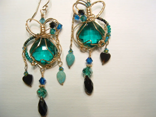 Poitiers Emerald earrings