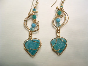 window druzy in light turquoise