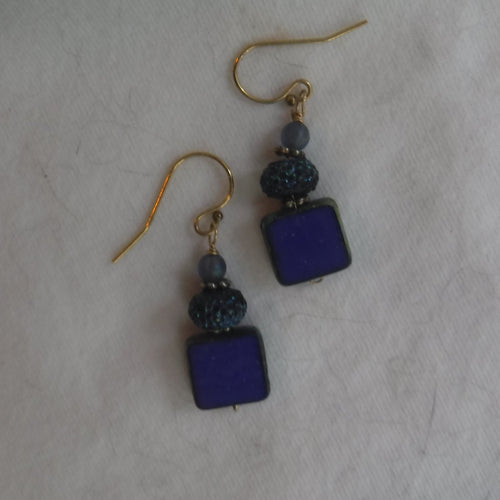 cobalt blue, small earrings