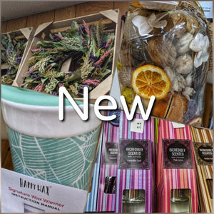 New at Hills Bayside Plant Shop in Saint Leonard! Now offering dried flowers, and home fragrance including wax melts, incense, potpourri and more!