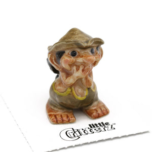 Giggles Troll With Hat Porcelain Miniature