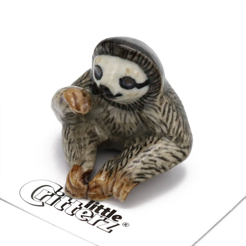 Buttercup Three-Toed Sloth Porcelain Miniature