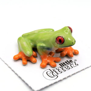 Clinger Red-Eyed Frog Porcelain Miniature