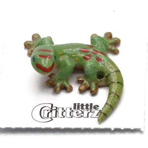 Gold Dust Day Gecko Porcelain Miniature