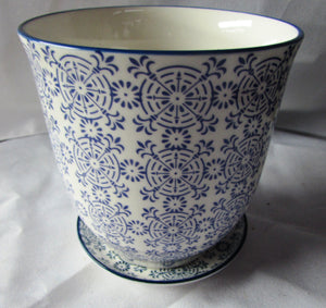 "Large Tea Cup Look Ceramic Planter  4.25"" in diameter and tall"