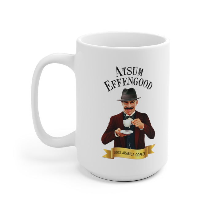 Atsum Effengood (P) White Ceramic Mug - Atsum Effengood Coffee